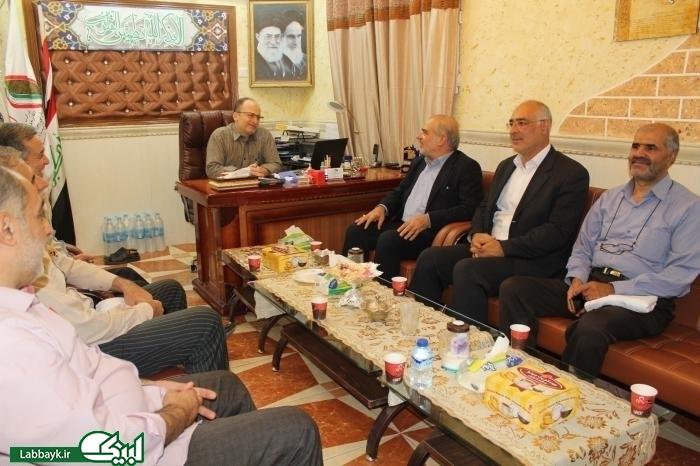 دیدار نمایندگان ستاد با مسئولین بعثه مقام معظم رهبری و ستاد اجرایی شمسا در نجف اشرف