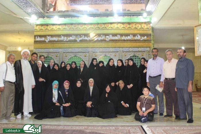 آشنایی زائرین با مراحل ساخت صحن حضرت زهرا(س) در نجف