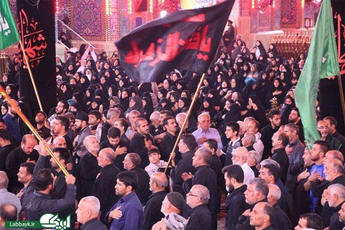 دومین روز عزاداری موکب امام رضا(ع) با یاد پیرغلامان حسینی