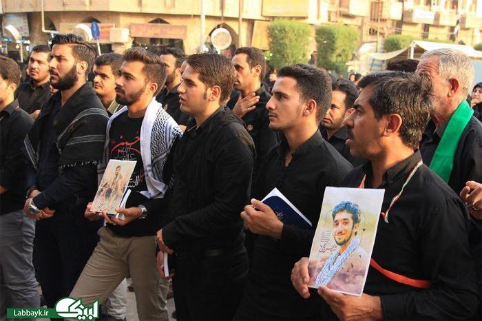 سلام به امام حسین(ع) به نیابت از شهید حججی