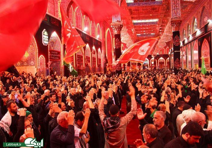 گزارش تصویری / طلب حاجات از باب الحوائج ۶ ماهه کربلا