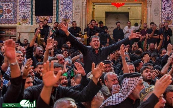 تصاویری از مقتل خوانی در صحن مطهر اباعبدالله الحسین(ع)