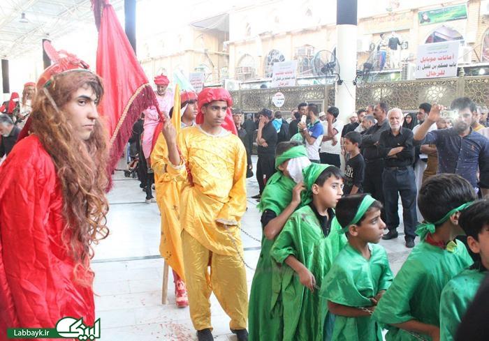 کاروان نمادین اسرای کربلا در نجف به راه افتاد/گزارش تصویری