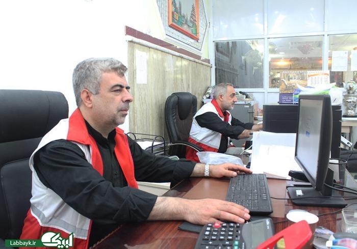 خدمات داوطلبانه هلال احمر به زائرین نجف