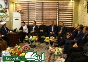 دیدار مدیرعامل بانک ملت با مسئول بعثه مقام معظم رهبری در عراق