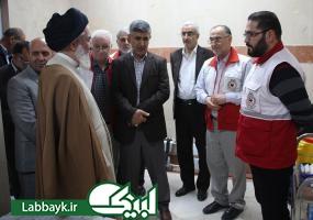 بازدید مسئول بعثه مقام معظم رهبری و نماینده ستاد از درمانگاه هلال احمر در نجف اشرف