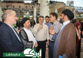 حضور حجت الاسلام والمسلمین فقیهی در جمع زائرین دانشگاهی در نجف اشرف