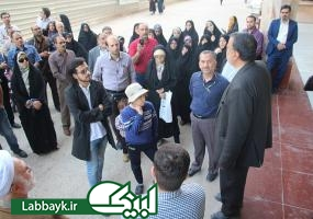 توضیحات نماینده ستاد به دانشگاهیان در مورد پروژه صحن حضرت فاطمه زهرا(س)