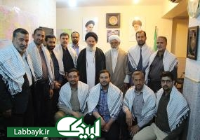 دیدار اساتید دانشگاهی با مسئول بعثه مقام معظم رهبری در نجف اشرف