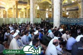 حضور همزمان ۲۴۰ نفر از زائرین عتبات دانشگاهیان در مزار حر بن ریاحی