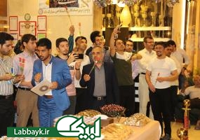 برگزاری جشن میلاد حضرت مهدی(عج) در هتل دانشجویان در کربلا