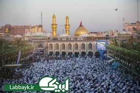 اقامه نماز عید سعید فطر در بین الحرمین کربلا