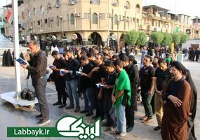 اولین سلام کاروان دانشجویی به امام عاشقی همراه با عطر محرم حسینی!