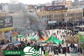 مراسم مقتل خوانی ، تعزیه و خیمه سوزان در نجف اشرف برگزار شد