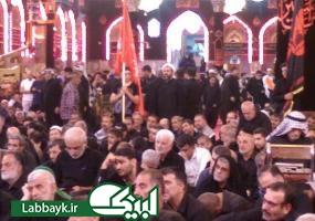 دانشجویان علمدار در حرم امام حسین(ع)اقامه عزا کردند