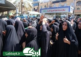 مراسم نمادین تدفین شهدای کربلا توسط قبیله بنی اسد در کربلای معلی برگزار شد