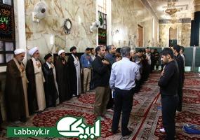 حضور حجت الاسلام والمسلمین قمی و رئیس ستاد در جمع زائرین دانشگاهی مزار حر