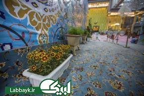 تزیین وگل آرایی صحن مطهر حضرت عباس (ع) با گیاهان و نهال های طبیعی