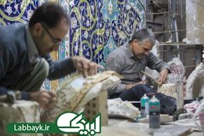 اجرای فاز نهایی عملیات عمرانی باب القبله حرم مطهر عباسی
