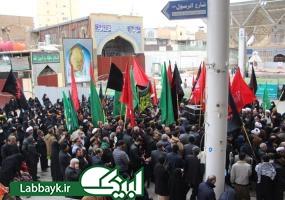 دسته عزای فاطمی موکب امام رضا(ع)با حضور کاروان های دانشگاهی در نجف برگزار شد