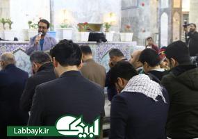 حرکت کاروان زائران به سوی باب القبله امام حسین (ع) و برگزاری مراسم سلام/تصاویر