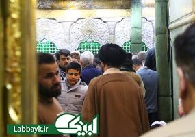 تصاویری از گنبد و ضریح امام حسین (ع) در لحظه سال تحویل
