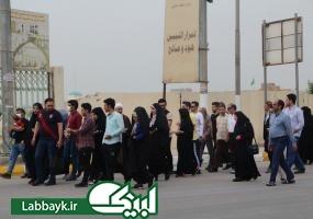 بازدید دانشگاهیان از بزرگترین قبرستان شیعیان در نجف اشرف