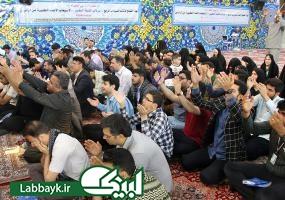 زائرین دانشجو در مقابل قتلگاه حسینی؛به پیشگاه حضرت سیدالشهدا(ع)عرض ارادت کردند