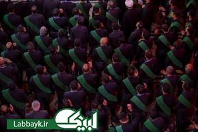 عزاداری خادمان دو آستان مقدس حسینی و عباسی در کربلای معلی