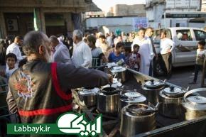 توزیع روزانه افطاری در میهمانسرای حضرت ابوالفضل العباس (علیه السلام)