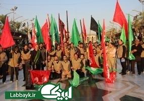 دانشجویان پرچمداران موکب امام رضا(ع) در کربلای معلی شدند/تصاویر