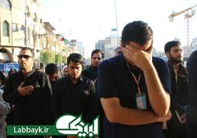 دیدگان بارانی دانشجویان در سلام اول به سیدالشهدا(ع)در ماه محرم