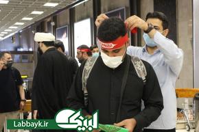 خدمت رسانی و بدرقه زائرین اربعینی حسینی با حضور ستاد عمره و عتبات دانشگاهیان...